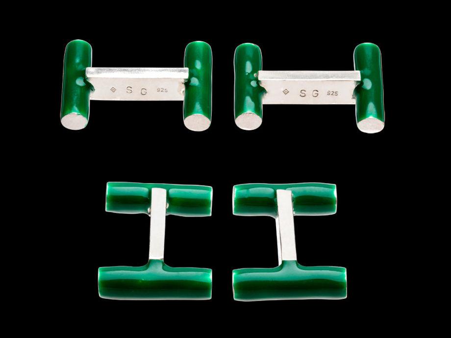 Boutons de manchette Iman vert