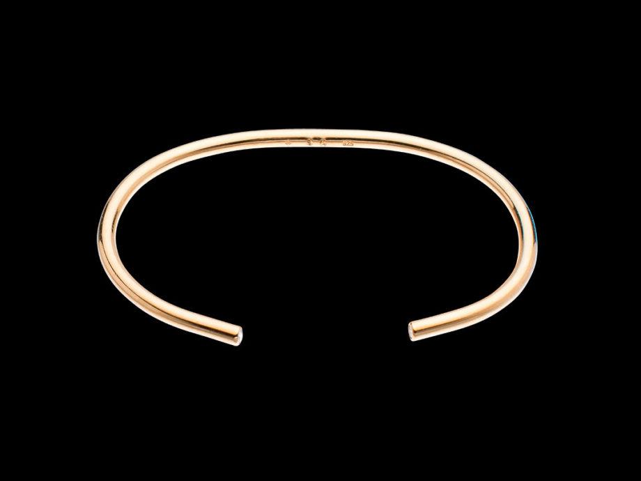 Bracelet ron d'apparat vermeil et diamants