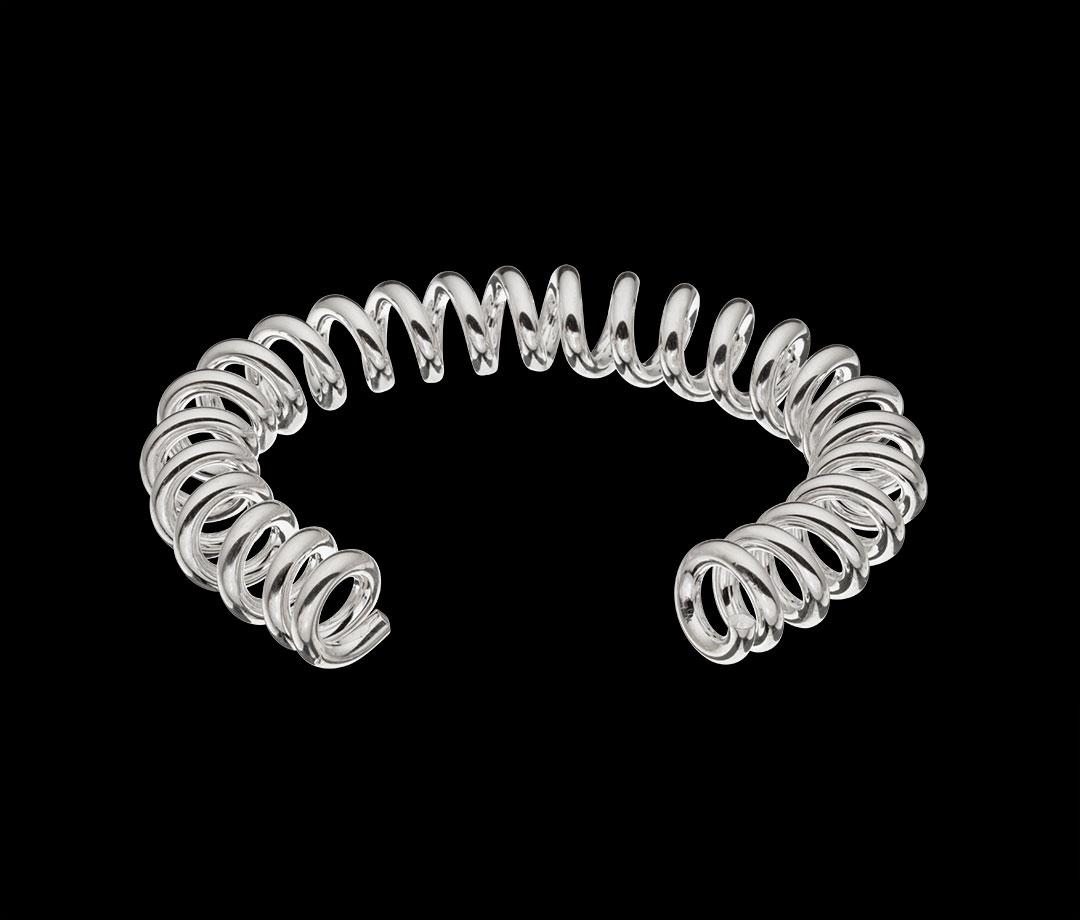 Bracelet chouchou argent