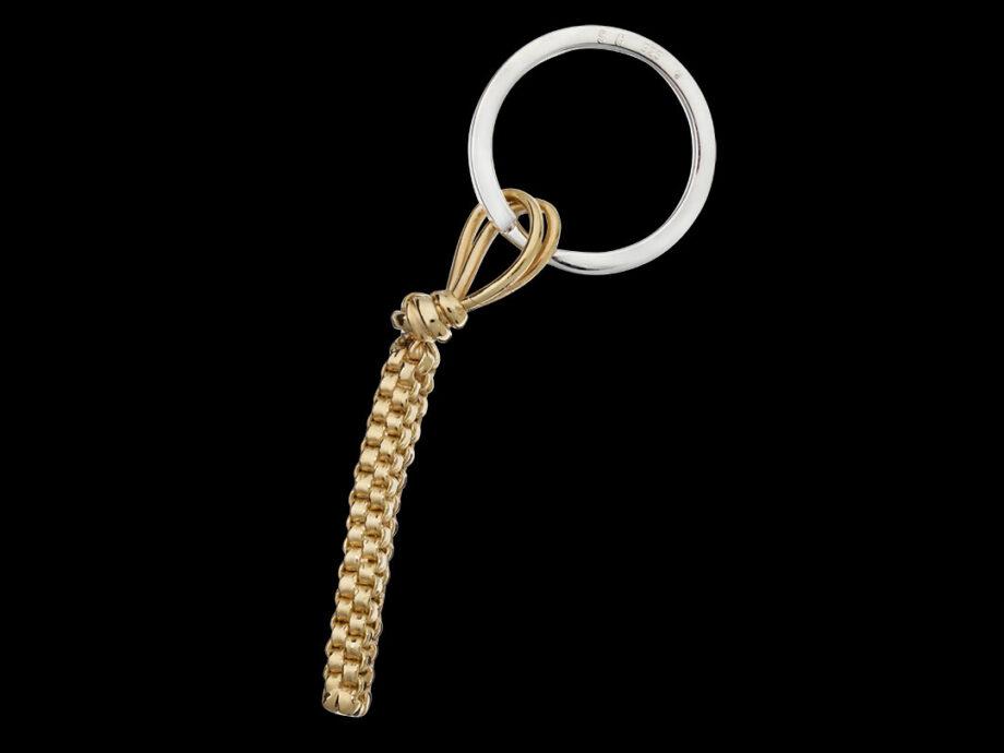 Porte-clés scoubidou vermeil 5 microns